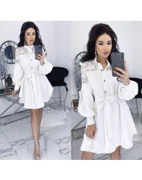 Obleka - koda 6364 - bela