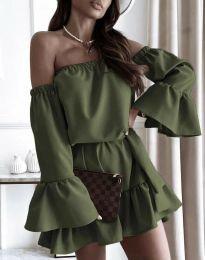 Obleka - koda 8513 - olivna