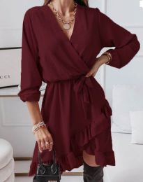 Obleka - koda 5371 - bordo