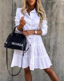 Obleka - koda 1366 - 2 - bela
