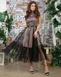 Obleka - koda 6858 - 1 - črna