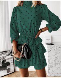 Obleka - koda 3665 - тъмно зелен