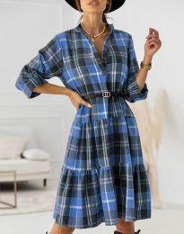 Obleka - koda 6842 - svetlo modra