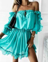 Obleka - koda 0223 - turkizna