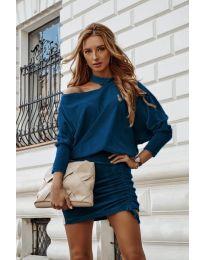 Obleka - koda 8987 - turkizna