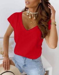 Свободна дамска тениска в червено - код 2389