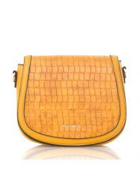 Дамска чанта в кафяво заоблен модел с капак - код NH2897