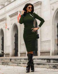Obleka - koda 7099 - 7 - temno zelena
