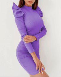 Obleka - koda 9303 - 3 - vijolična