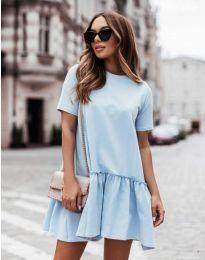 Obleka - koda 11890 - svetlo modra
