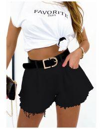 Kratke hlače - koda 4563  - 1 - črna