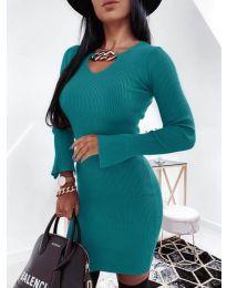 Obleka - koda 5666 - turkizna