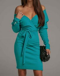 Obleka - koda 4765 - turkizna
