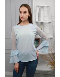 Bluza - koda 0643 - 4 - svetlo modra
