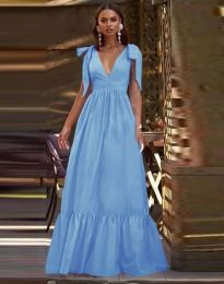 Obleka - koda 2743 - svetlo modra
