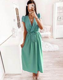 Obleka - koda 2455 - 2 - turkizna