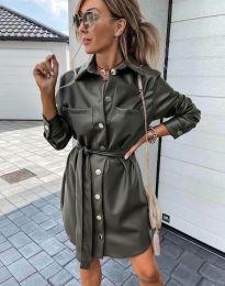 Obleka - koda 2186 - olivna