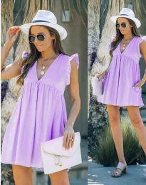 Obleka - koda 7141 -  svetlo vijolična