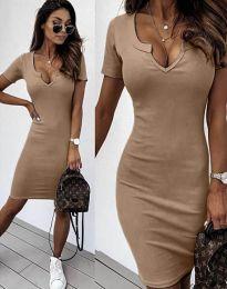 Obleka - koda 2202 - 4 - кapučino