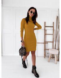 Obleka - koda 5696 - gorčica