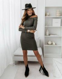 Obleka - koda 0984 - 3 - olivna