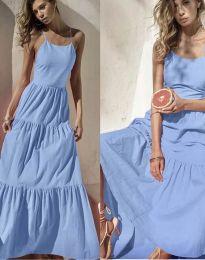 Obleka - koda 2991 - svetlo modra