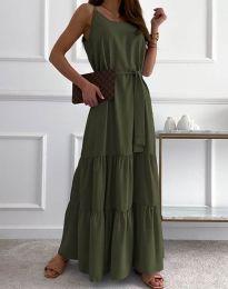 Obleka - koda 2578 - olivna