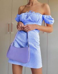 Obleka - koda 2594 - 3 - svetlo modra