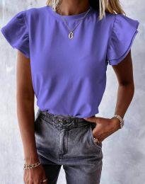 Дамска тениска в лилаво - код 6215