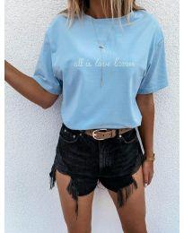 Majica - koda 36755 - svetlo modra