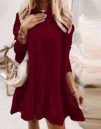 Obleka - koda 9376 - bordo