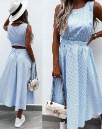 Obleka - koda 2687 - svetlo modra
