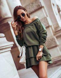 Obleka - koda 0525 - olivno zelena