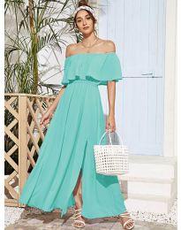 Obleka - koda 698 - turkizna