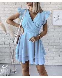 Obleka - koda 409 - svetlo modra