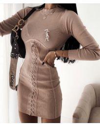 Obleka - koda 4453 - 3 - bež
