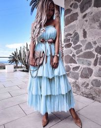 Obleka - koda 1543 - svetlo modra