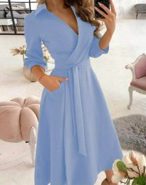 Obleka - koda 2861 - svetlo modra