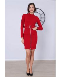 Obleka - koda 2053 - 3 - rdeča