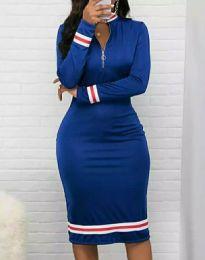 Obleka - koda 3565 - 2 - modra