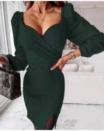 Obleka - koda 2595 - тъмно зелен