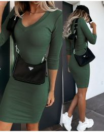 Obleka - koda 7592 - olivno zelena