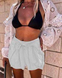 Kratke hlače - koda 0320 - 2 - bela