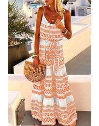 Obleka - koda 621 - oranžna
