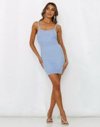 Obleka - koda 10099 - svetlo modra