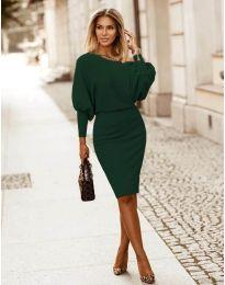 Obleka - koda 2242 - temno zelena