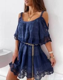 Obleka - koda 6954 - temno modra