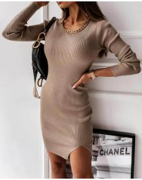 Obleka - koda 4545 - bež