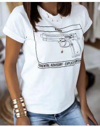 Majica - koda 3024 - 2 - bela