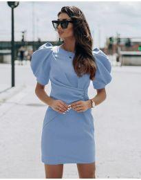 Obleka - koda 9438 - svetlo modra